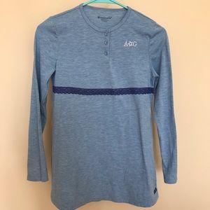 American Girl large 14/16 blue long sleeve shirt